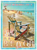 Life Is A Beach Chair Print