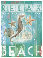 Relax Another Day At The Beach Print