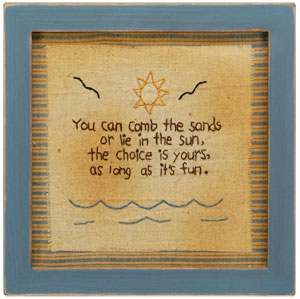 Comb The Sands Stitchery