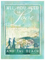 All You Need Is Love And The Beach Canvas Art
