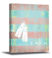 Swim Canvas Art