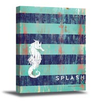 Striped Splash Canvas Art