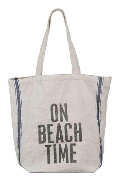 On Beach Time Beach Bag