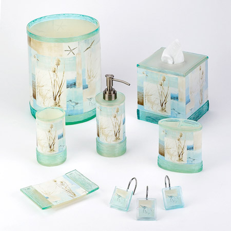 Blue waters bath accessories for Bathroom accessories sale