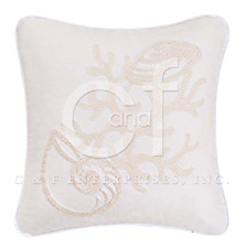 Seashell Rice Stitch Throw Pillow #1