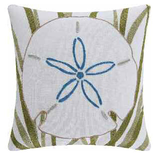 Sand Dollar Chain Stitch Pillow
