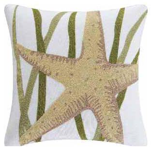 Starfish Chain Stitch Pillow