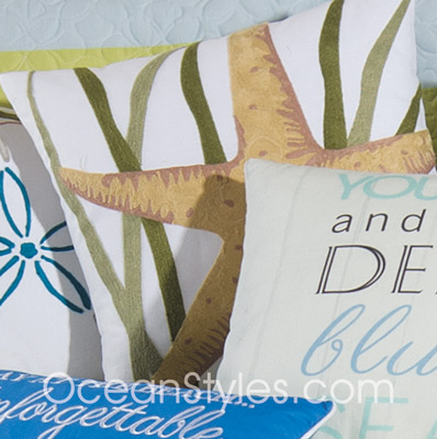 Blue Oasis King Luxury Quilt