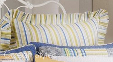 Bridgewater Blue & Green Stripes Euro Sham