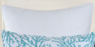 Cora Blue White Shell Euro Sham
