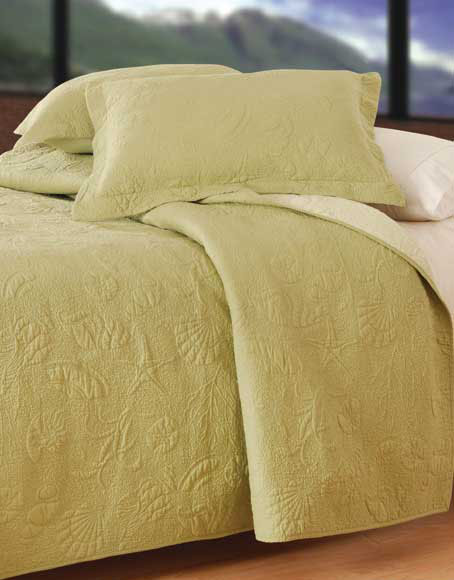 Solid Green Shell Luxury Oversized Quilt
