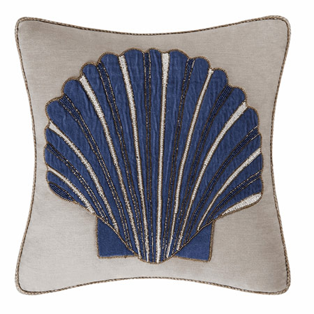 Scallop Glass Beaded Pillow