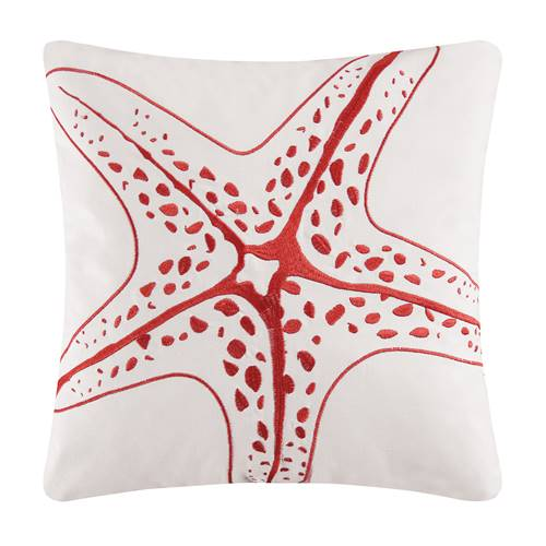 Kalani Embroidered Starfish Pillow