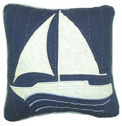 Nantucket Dream Sailboat Throw Pillow