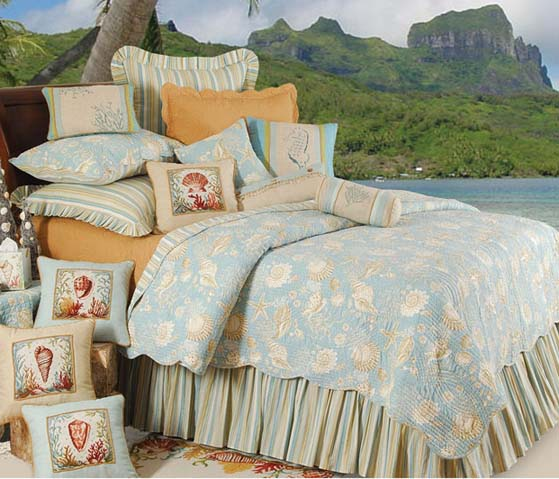 Natural Shells Luxury Oversized Quilt