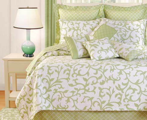 Serendipity Green F/Q Luxury Quilt