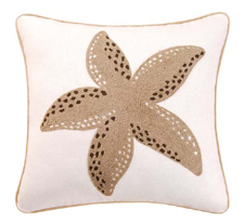 Starfish Rice Stitch Throw Pillow