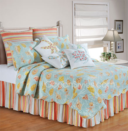 St. Martin Blue Deluxe Bedding Set