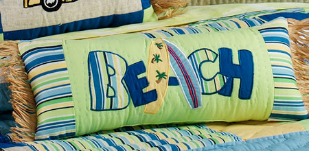 """Beach"" Neckroll Pillow"