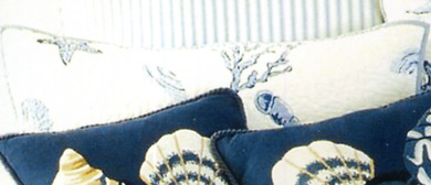 Treasures By The Sea Blue Standard Pillow Sham