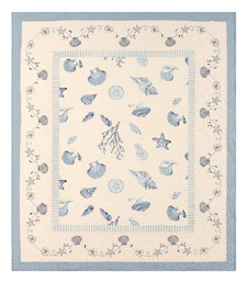 Treasures By The Sea Blue Throw