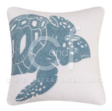 Sea Turtle Rice Stitch Throw Pillow
