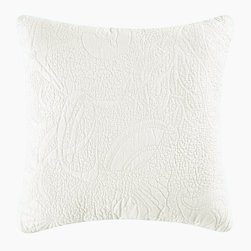 Solid White Shell Quilted Throw Pillow