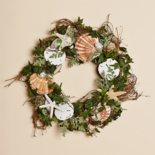 "Sea Stars 18"" Vine Wreath"