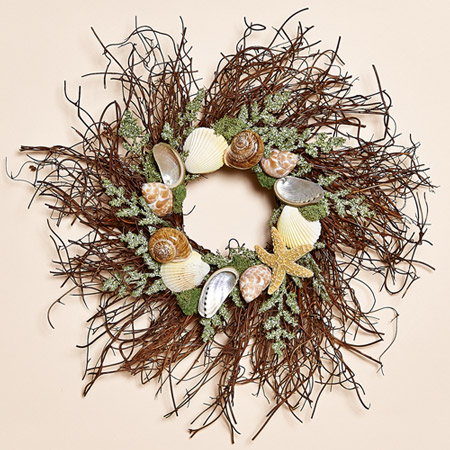 "Sea Stars 12"" Twig Wreath"