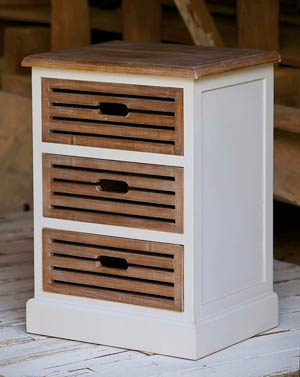 Wood 3 Drawer Cabinet