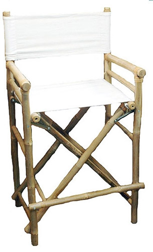 High Bamboo Director's Chair