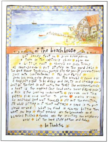 At the Beach House Print