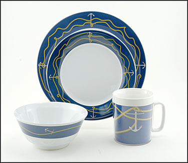 Anchorline Melamine Dinnerware Set