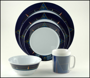 Blue Compass Melamine Dinnerware Set & Blue Compass Melamine Dinnerware Set | OceanStyles.com