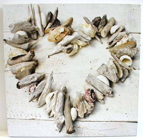 Driftwood Heart Canvas Art
