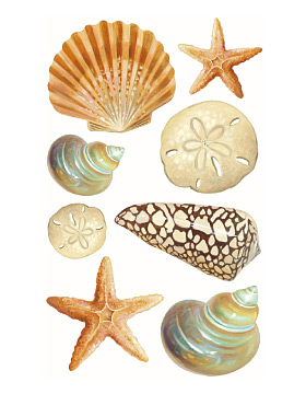 Seashore Peel & Stick Vinyl Decals
