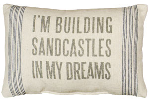 Sandcastles Linen Pillow