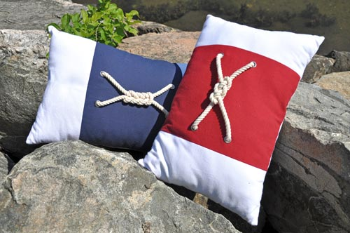 Nautical Knot Pillows - Set of 2