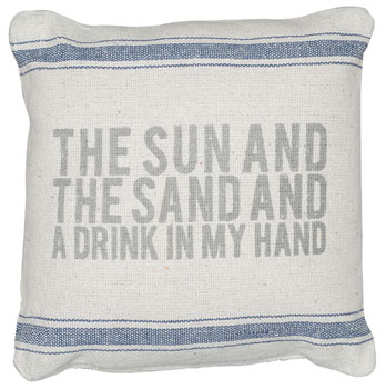Sun And Sand Linen Pillow
