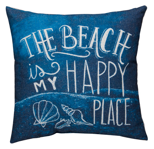 Happy Place Chalkboard Pillow