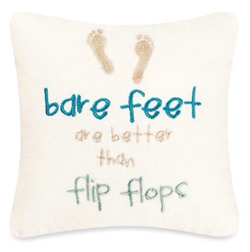 Mini Bare Feet Throw Pillow