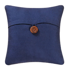 Navy Blue Feather Down Throw Pillow