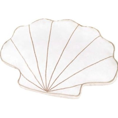 White Shell Shaped Pillow
