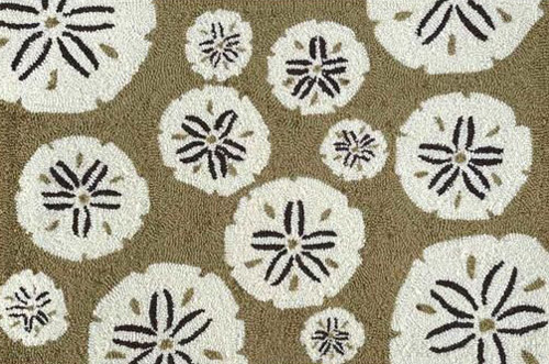 Taupe Sand Dollar Accent Rug