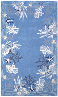 Sea Star Blue Area Rug