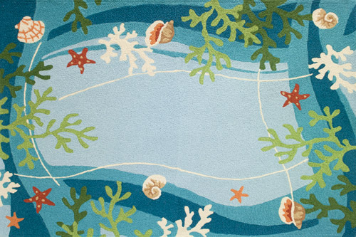 Underwater Coral & Starfish Patio Rug
