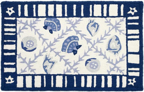 Navy Blues Memory Foam Mat