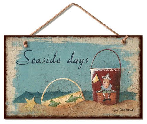 Seaside Days Wood Wall Sign