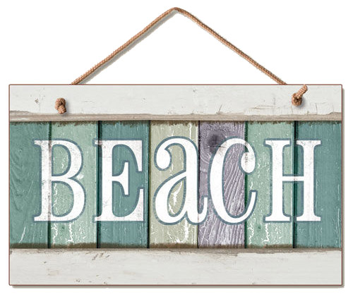 Small Hanging Beach Wood Wall Signs Oceanstyles Com