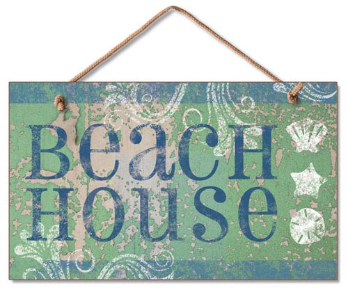 Beach House Wood Wall Sign